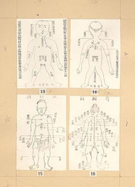 "Plate 3 from E.V. Cowdry's: ""A comparison of ancient Chinese anatomical charts with the 'Fun..."