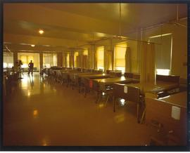 Interior view of an empty ward, Homer G. Phillips Hospital.