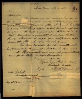 Benjamin Silliman [New Haven, CT] to Mr. Gahn, Swedish Consul [New York, NY] regarding: W. Beaumo...