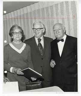 Maria White, C. Alvin Tolin, and Park J. White at a reception honoring the publication of Dr. Whi...