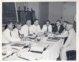 Doctors L.A. Schule of Bethesda, Maryland, Shields Warren of Boston, and six unidentified others ...