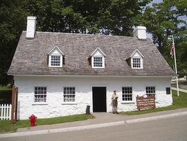Exterior view of the Historic Mackinac Island American Fur Co. Store and Dr. Beaumont Museum, Mac...