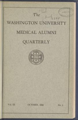 Washington University Medical Alumni Quarterly, October 1939