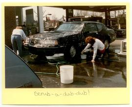 Junior students washing cars, Washington University School of Medicine, Program in Occupational T...