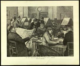 """In the reading-room fo a London free library."""