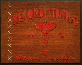 Wooden album cover, Occupational Therapy branch of Wakeman General and Convalescent Hospital, Cam...
