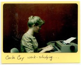 Carla Cay typing, Washington University School of Medicine, Program in Occupational Therapy.