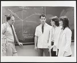 Dr. Steven Rose with three students, Washington University School of Medicine Program in Physical...