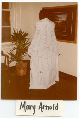 Mary Arnold modeling an anatomical dress, Washington University School of Medicine, Program in Oc...