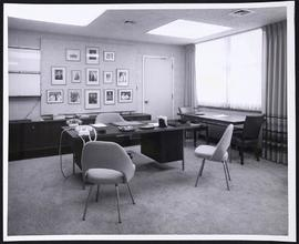 Interior view of an office, Wohl Clinics, Washington University Medical Center.