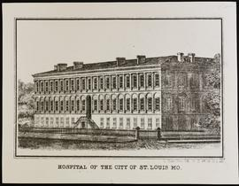 Exterior view of St. Louis City Hospital.