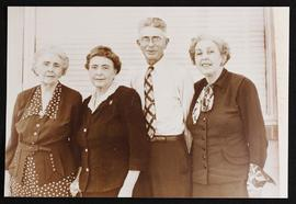 Group portrait of Sada Blake Growment, Stella Blake Lumpkin, William Alan Blake, and Mrs. Joe Bla...