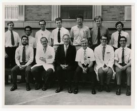 Group portrait of the Washington University School of Medicine pathology department.