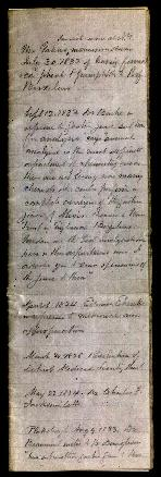 Register of Beaumont's correspondence between September 1824 and May 15, 1852 with synopses of ea...
