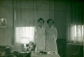 Portrait of two unidentified nurses, Fort Benning, Georgia.