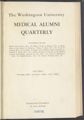 Washington University Medical Alumni Quarterly, October 1937