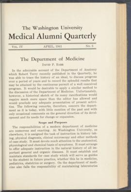 Washington University Medical Alumni Quarterly, April 1941