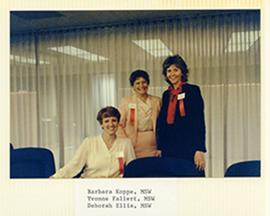 Group portrait of Barbara Koppe, Yvonne Fallert, and Deborah Ellis.