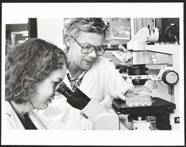 Dr. John Russell with MSTP student Barbara Simmons, Department of Pharmacology, Washington Univer...