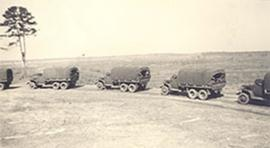2nd Armored Division tanks transporting nurses, Fort Benning, Georgia.