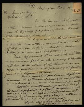 Abel Huntington, John Thompson, and Robert Mitchell, House of Representatives [Washington, DC] to...
