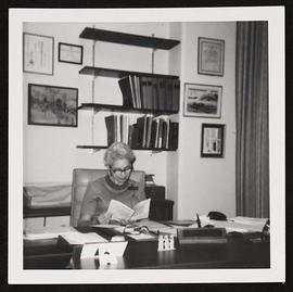 Estelle Brodman in her office.