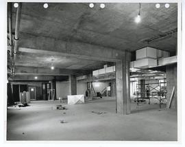 Interior view of construction, 9th floor of Spoehrer Tower, St. Louis Children's Hospital.