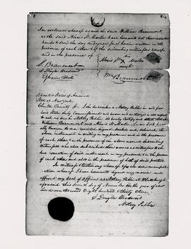 View of the notarization of the contract between William Beaumont and Alexis St. Martin.