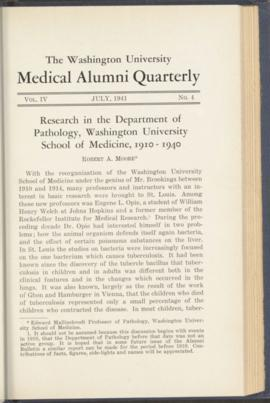 Washington University Medical Alumni Quarterly, July 1941