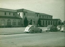 Exterior view of the Officers' Club, Fort Benning, Georgia.
