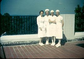 Group portrait of four nurses, Fort Benning, Georgia.