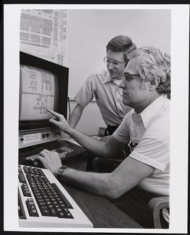 Dr. Frederick Rosenberger and post-doctoral student Walter Basch, Biomedical Computer Laboratory,...