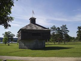 Exterior view of Fort Crawford, Prarie du Chien, Wisonsin.
