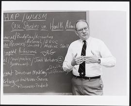 Dr. James Hepner giving a lecture, Health Administration Program, Washington University School of...