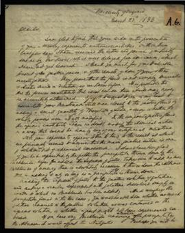 Robley Dunglison [University of Virginia] to W. Beaumont [Washington, DC] regarding: receipt of g...