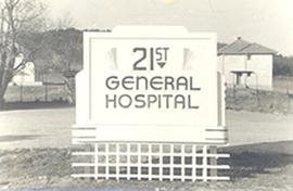 21st General Hospital sign, Mirecourt, France.