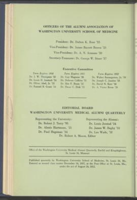 Washington University Medical Alumni Quarterly, July 1949