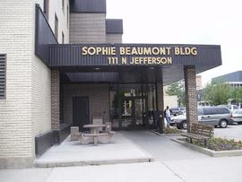 Exterior view of the Sophie Beaumont Building, Green Bay, Wisconsin.