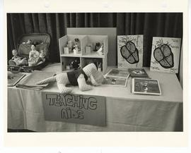 Display of pediatric teaching aids.
