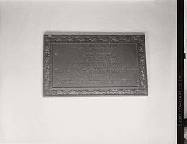 View of a Jewish Sanatorium dedication plaque.