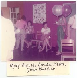 Mary Arnold, Linda Helm, and Joan Kneedler at a Washington University School of Medicine, Program...
