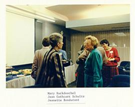 Mary Ruckdeschel, Jean Cathcart Schultz, and Jeanette Bondurant.