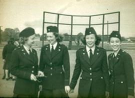 Four unidentified nurses, Fort Benning, Georgia.