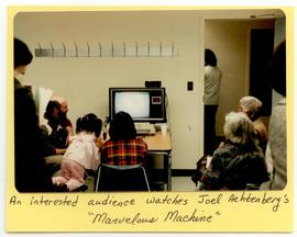 Joel Achtenberg presenting to a group of visitors, Washington University School of Medicine, Prog...