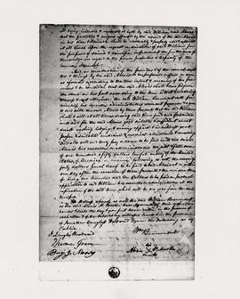 View of the contract between William Beaumont and Alexis St. Martin.