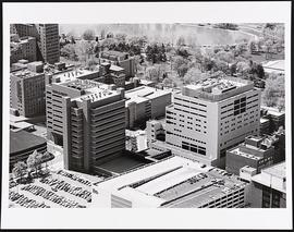 Aerial view of Washington University Medical Center.