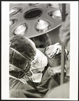 Dr. Samuel Wells performing an operation, Department of Surgery, Washington University School of ...