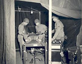 X-ray examination, 12th Field Hospital, Camp Bowie, Texas.