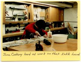 Jana Cooksey crafting in a workshop, Washington University School of Medicine, Program in Occupat...