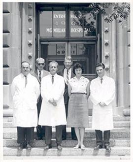Unidentified group portrait, McMillan Hospital.